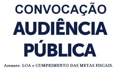 Audiencia Pública -Convocação p/30/05/2017