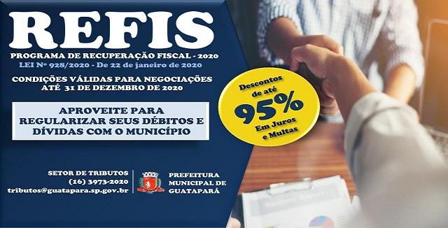 Programa de Recuperação Fiscal do Município – REFIS/2020